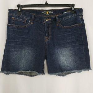 Lucky Brand Abbey Frayed Jean Shorts Size 10 / 30